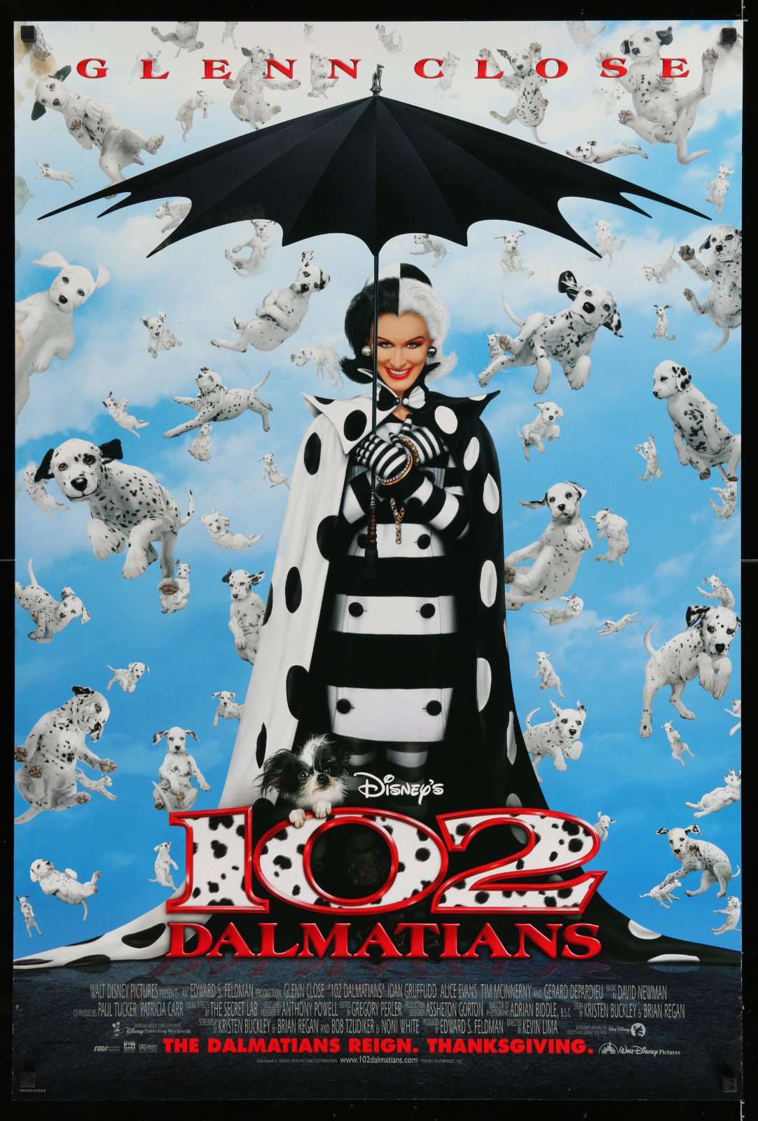 102 Dalmatians 2A446 A Part Of A Lot 17 Unfolded Mostly Double-Sided 27X40 One-Sheets '90S-00S Great Movie Images!