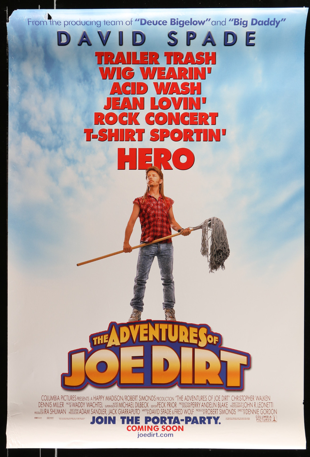 The Adventures Of Joe Dirt 2A413 A Part Of A Lot 20 Unfolded Mostly Double-Sided 27X40 One-Sheets '90S-00S Great Movie Images!