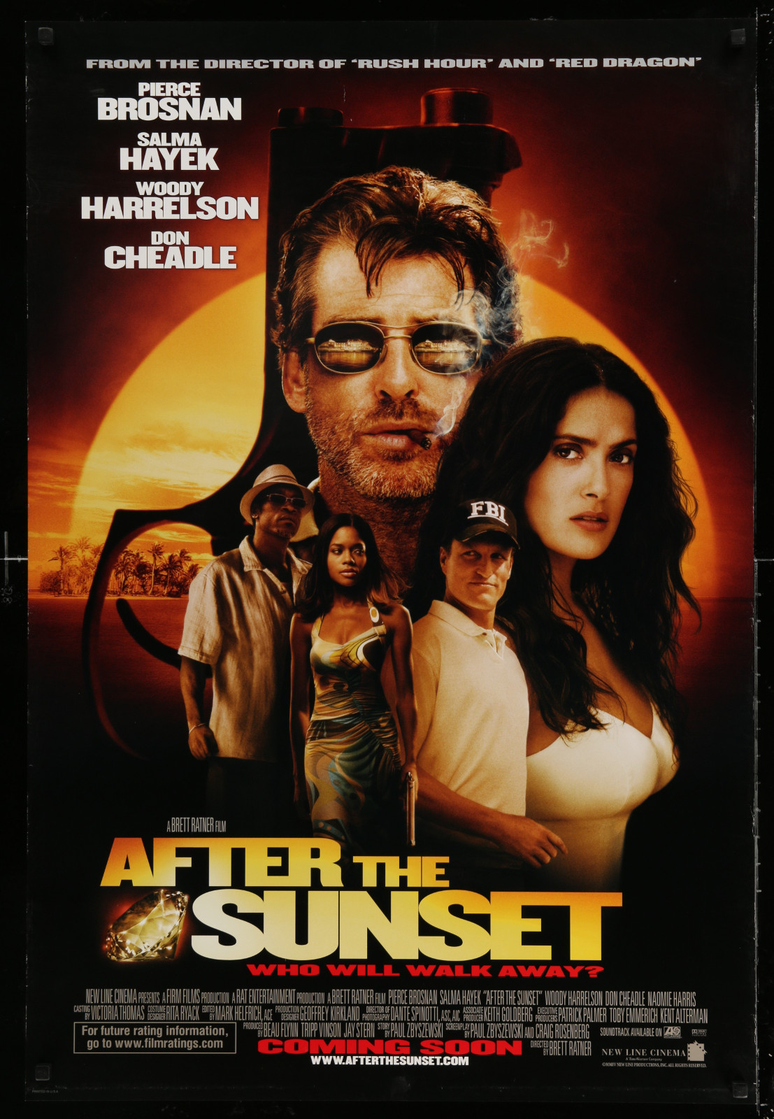 After The Sunset 2A471 A Part Of A Lot 15 Unfolded Double-Sided 27X40 Mostly Family One-Sheets '00S Great Movie Images!