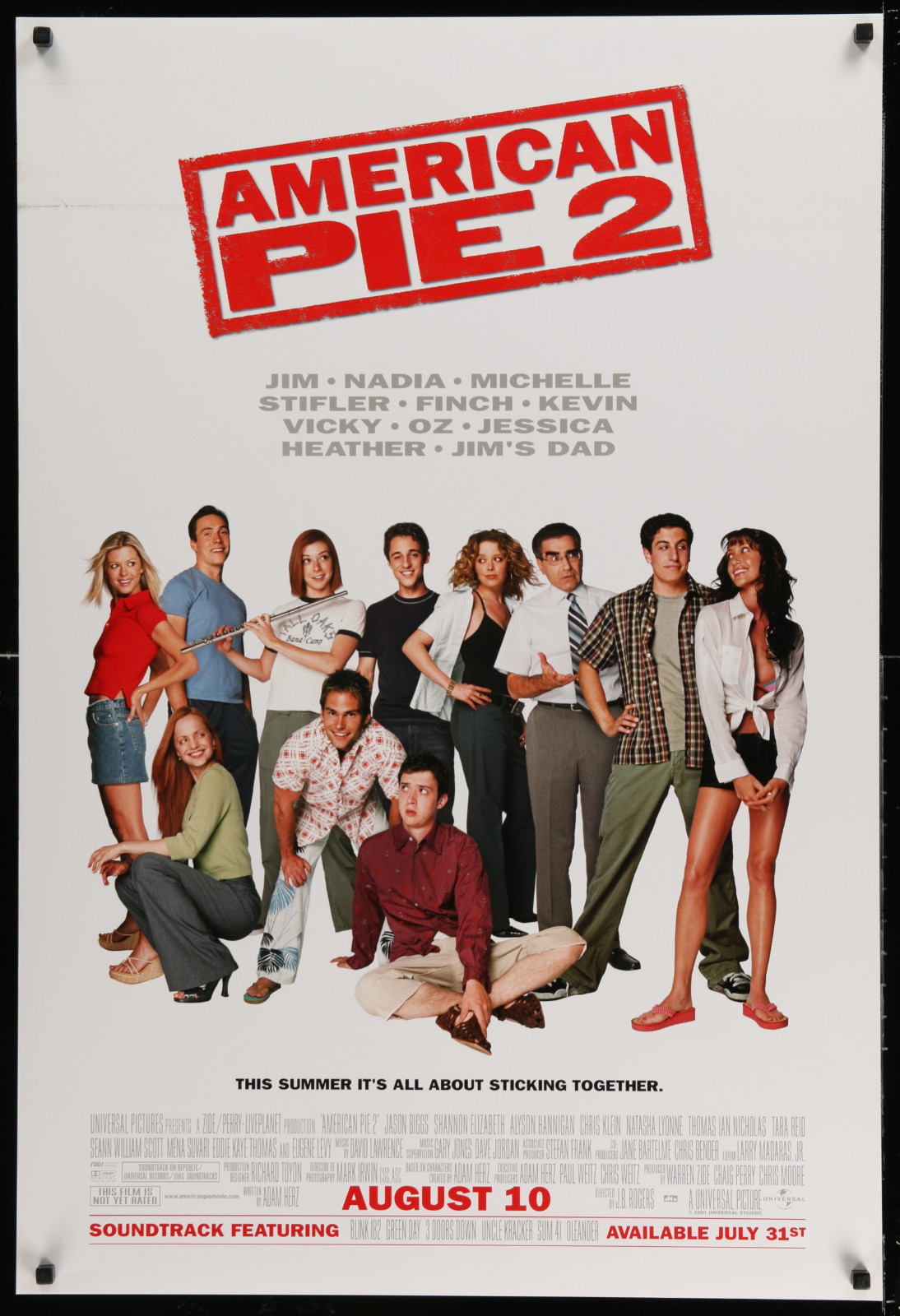 American Pie 2 2A438 A Part Of A Lot 18 Unfolded Double-Sided 27X40 Mostly Comedy One-Sheets '90S-00S Great Movie Images!