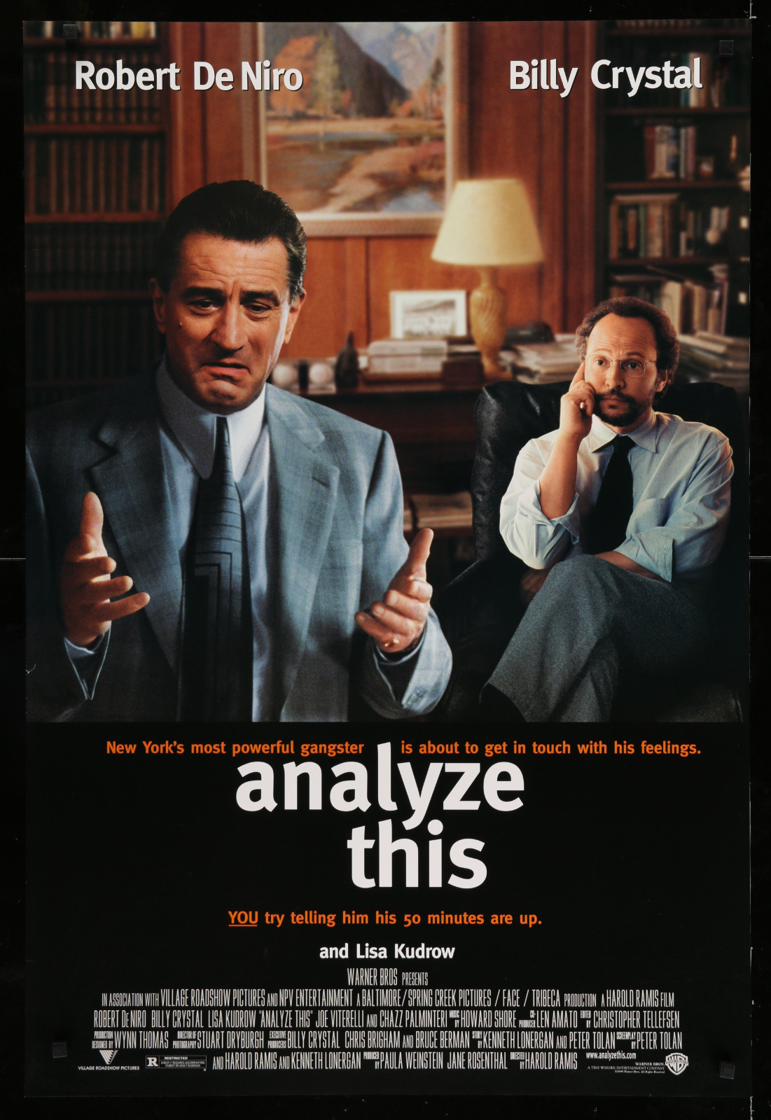 Analyze This 2A393 A Part Of A Lot 23 Unfolded Mostly Double-Sided 27X40 One-Sheets '90S Great Movie Images!