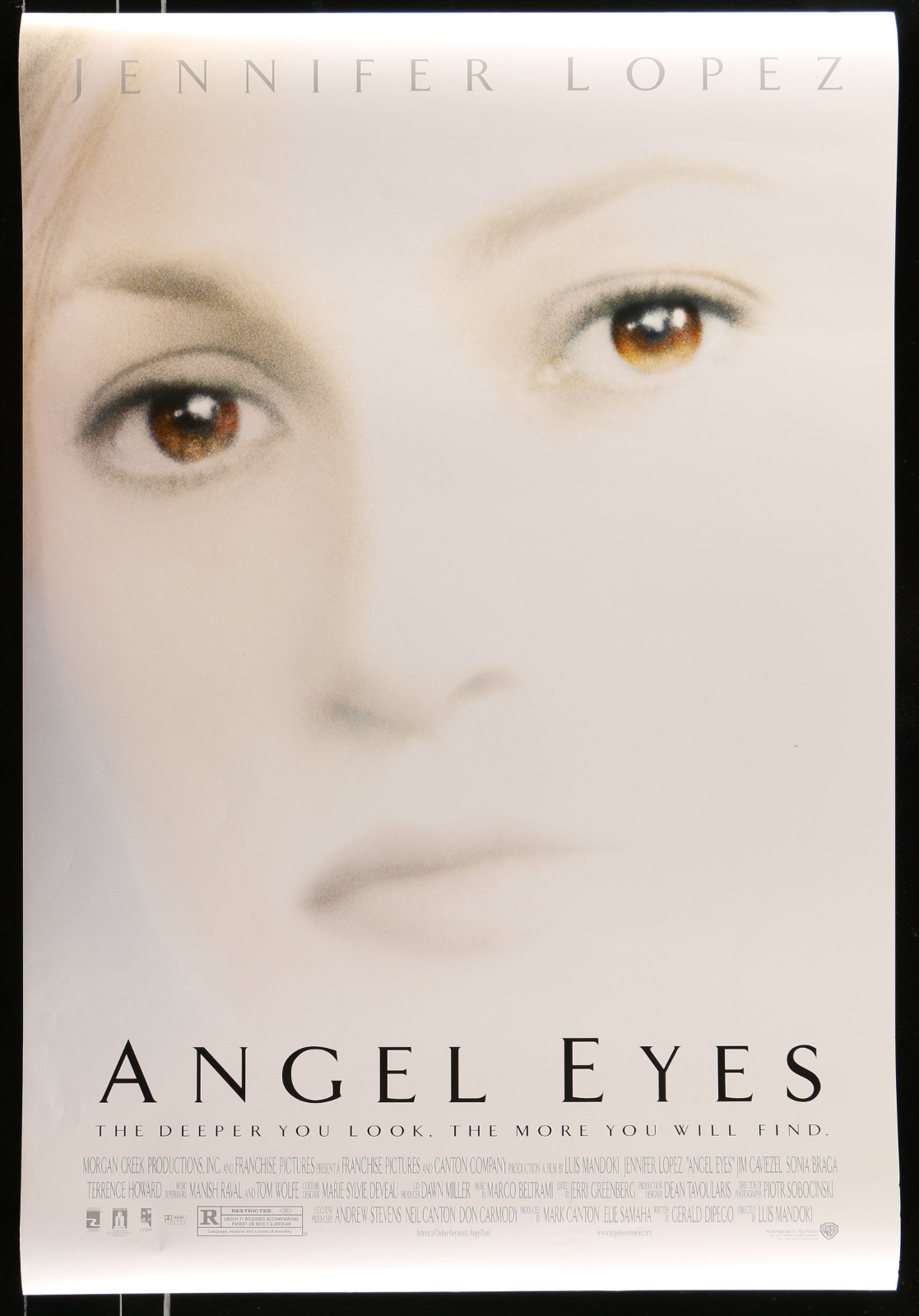 Angel Eyes 2A413 A Part Of A Lot 20 Unfolded Mostly Double-Sided 27X40 One-Sheets '90S-00S Great Movie Images!