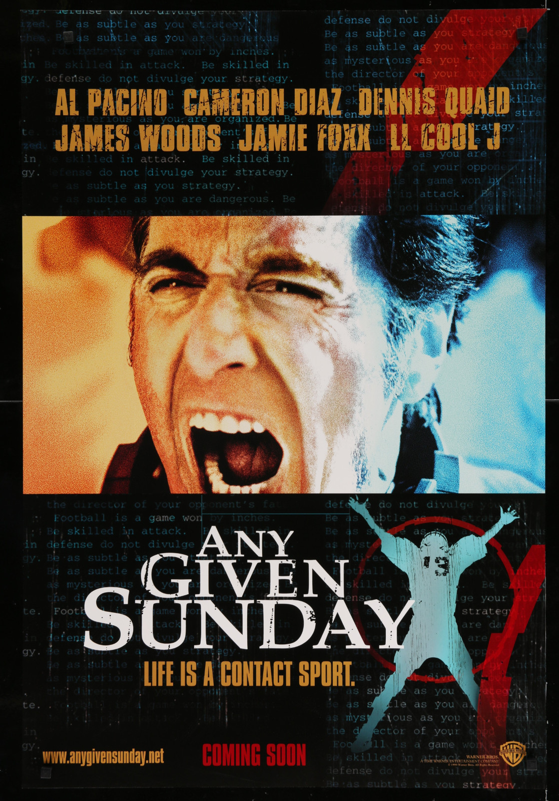 Any Given Sunday 2A393 A Part Of A Lot 23 Unfolded Mostly Double-Sided 27X40 One-Sheets '90S Great Movie Images!