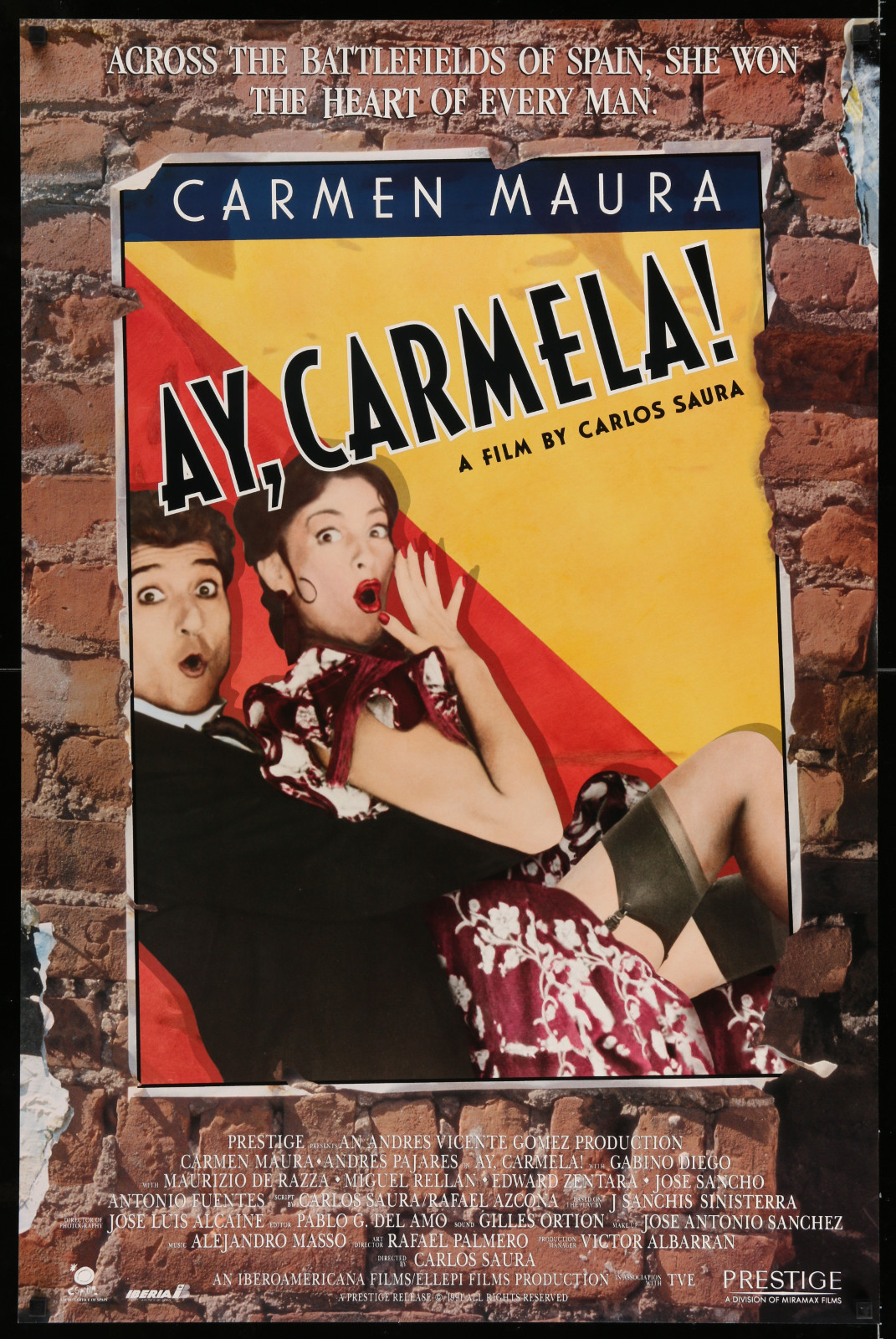 Ay, Carmela! 2A353 A Part Of A Lot 32 Unfolded Double-Sided And Single-Sided Mostly 27X40 One-Sheets '90S-00S Great Images