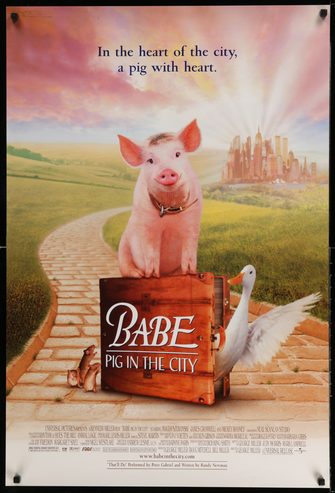 Babe Pig In The City 2A391 A Part Of A Lot 24 Unfolded Double-Sided 27X40 One-Sheets '90S-00S Great Movie Images!