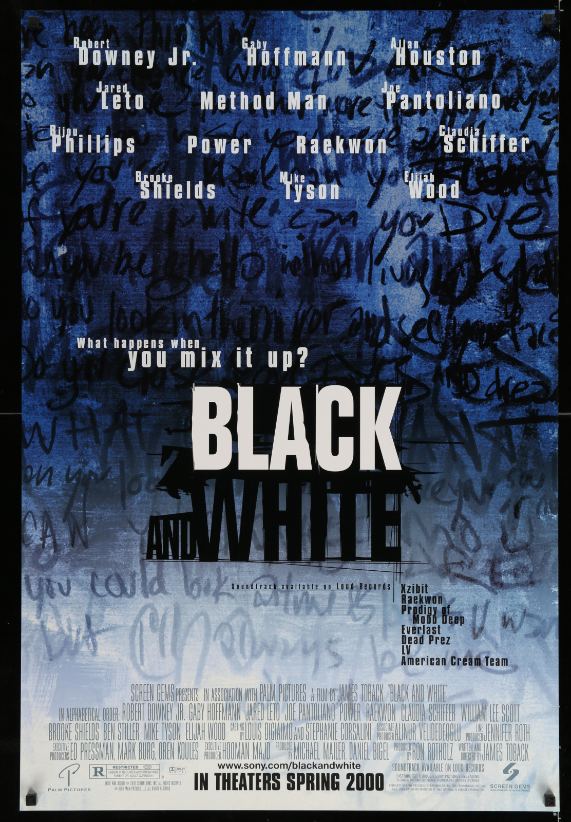 Black And White 2A446 A Part Of A Lot 17 Unfolded Mostly Double-Sided 27X40 One-Sheets '90S-00S Great Movie Images!