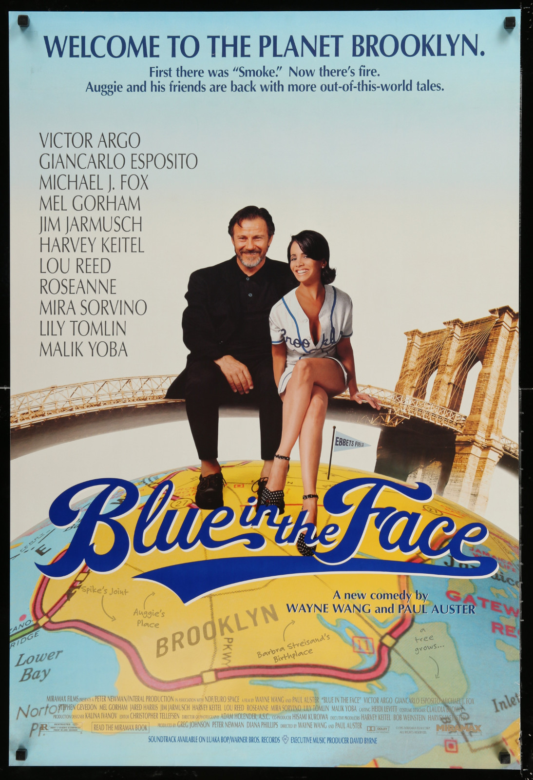 Blue In The Face 2A391 A Part Of A Lot 24 Unfolded Double-Sided 27X40 One-Sheets '90S-00S Great Movie Images!