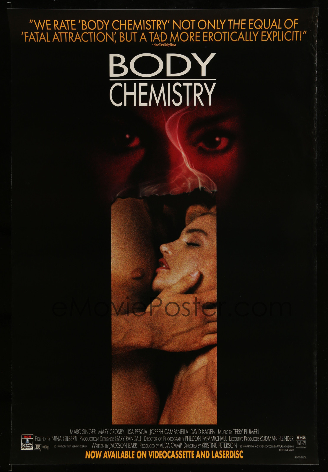 Body Chemistry 2A323 A Part Of A Lot 18 Unfolded Single-Sided Video Posters '90S A Variety Of Movie Images!
