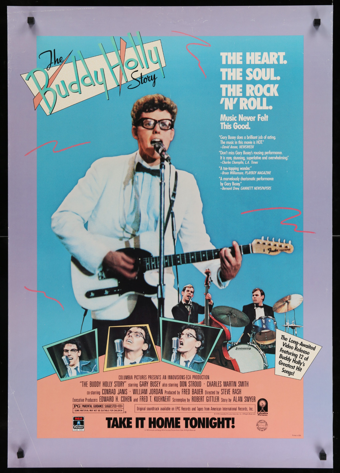 The Buddy Holly Story 2A393 A Part Of A Lot 23 Unfolded Mostly Double-Sided 27X40 One-Sheets '90S Great Movie Images!