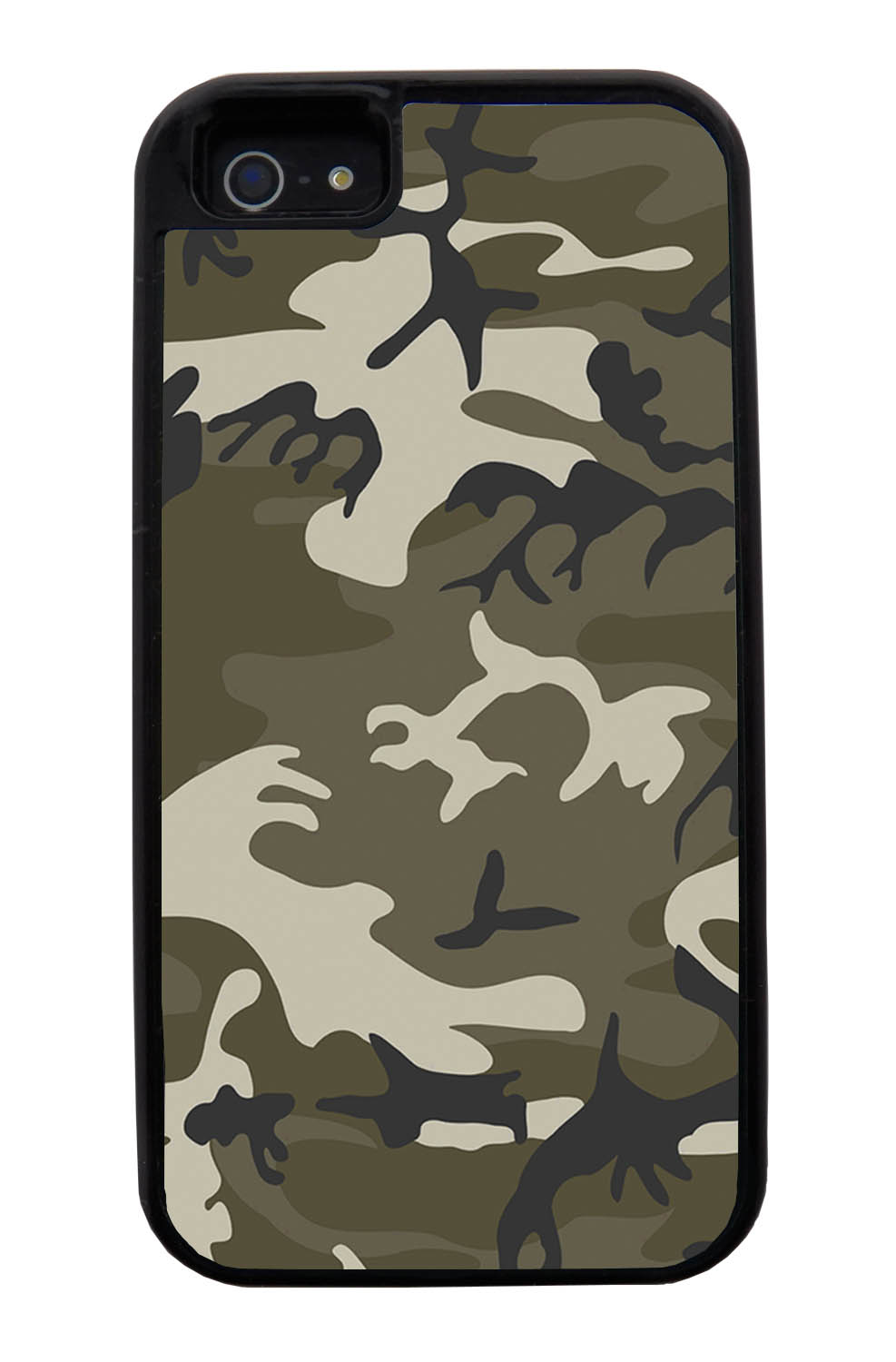 Apple iPhone 5 / 5S Camo Case - Traditional - Woodland - Black Tough Hybrid Case