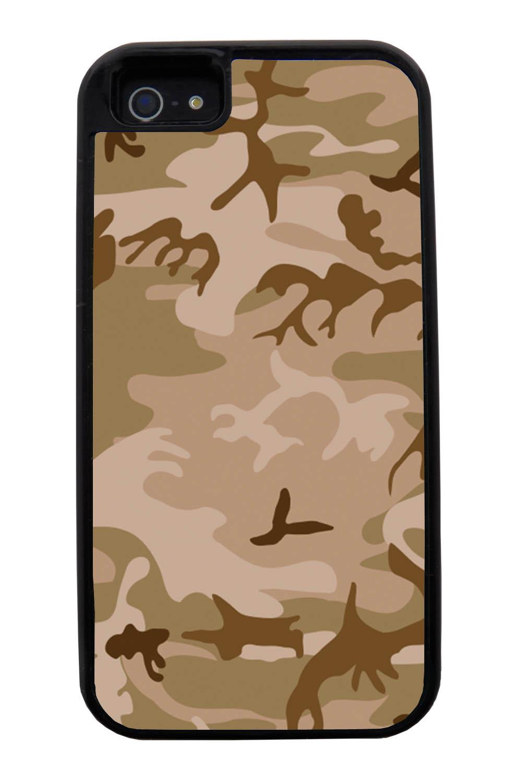 Apple iPhone 5 / 5S Camo Case - Deserts Colors - Woodland - Black Tough Hybrid Case