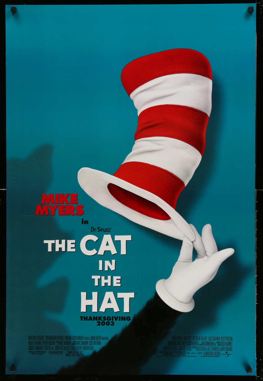 The Cat In The Hat 2A391 A Part Of A Lot 24 Unfolded Double-Sided 27X40 One-Sheets '90S-00S Great Movie Images!