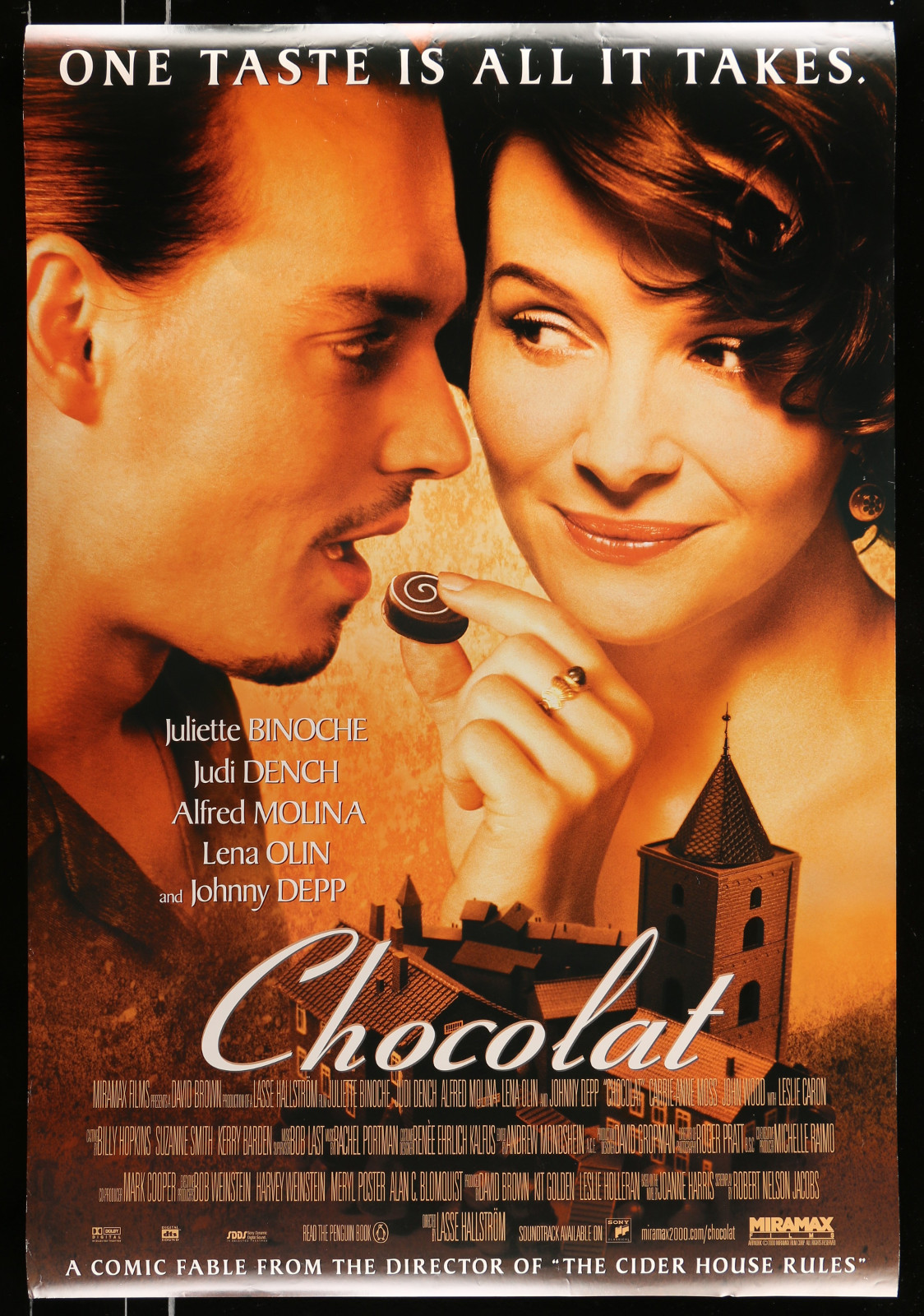 Chocolat 2A413 A Part Of A Lot 20 Unfolded Mostly Double-Sided 27X40 One-Sheets '90S-00S Great Movie Images!