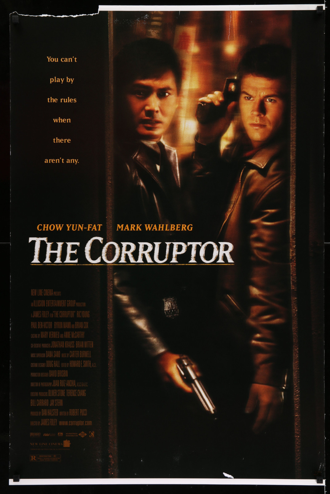 The Corruptor 2A422 A Part Of A Lot 19 Unfolded Mostly Double-Sided 27X41 One-Sheets '90S-00S Great Movie Images!