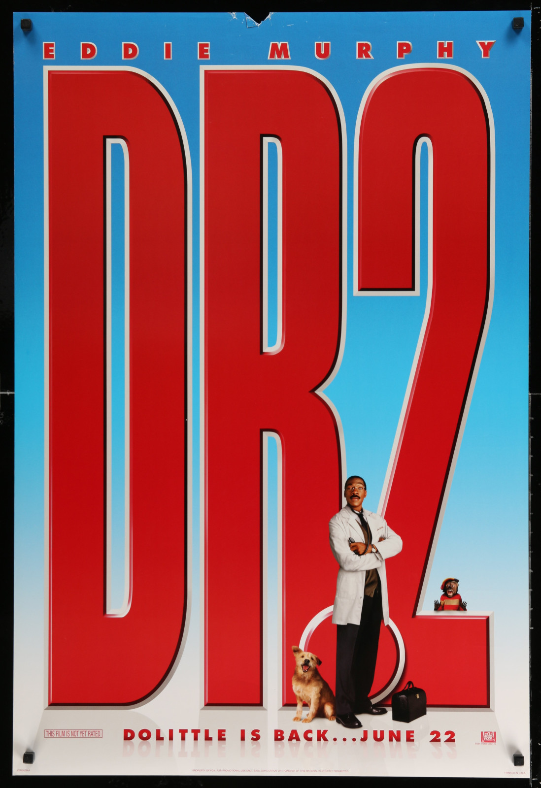 Doctor Dolittle 2 2A438 A Part Of A Lot 18 Unfolded Double-Sided 27X40 Mostly Comedy One-Sheets '90S-00S Great Movie Images!