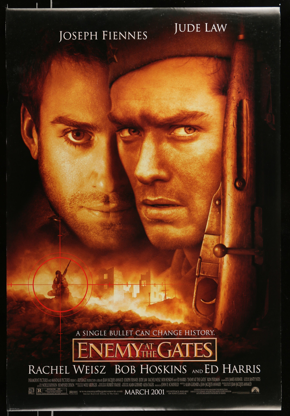 Enemy At The Gates 2A413 A Part Of A Lot 20 Unfolded Mostly Double-Sided 27X40 One-Sheets '90S-00S Great Movie Images!