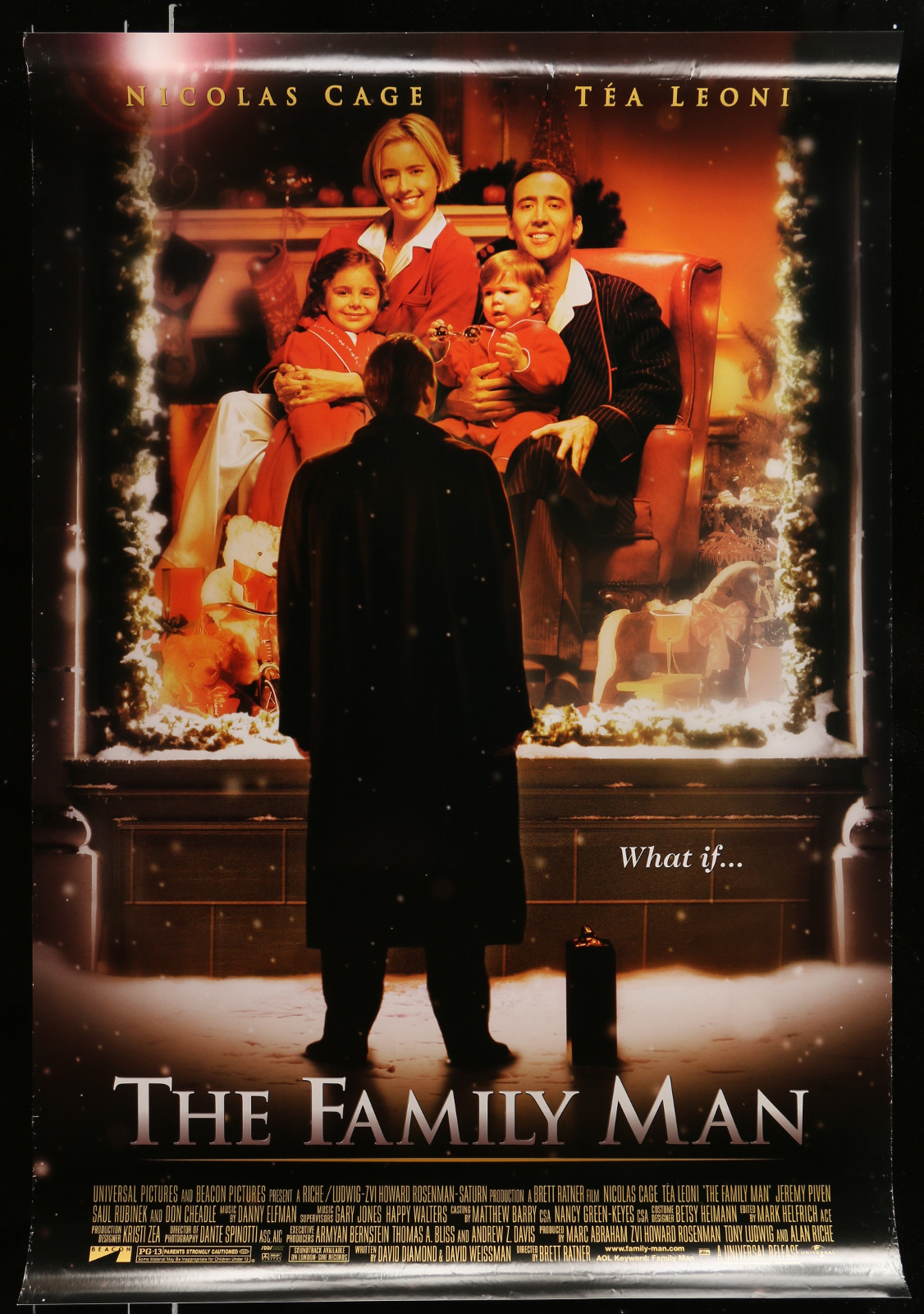 The Family Man 2A413 A Part Of A Lot 20 Unfolded Mostly Double-Sided 27X40 One-Sheets '90S-00S Great Movie Images!