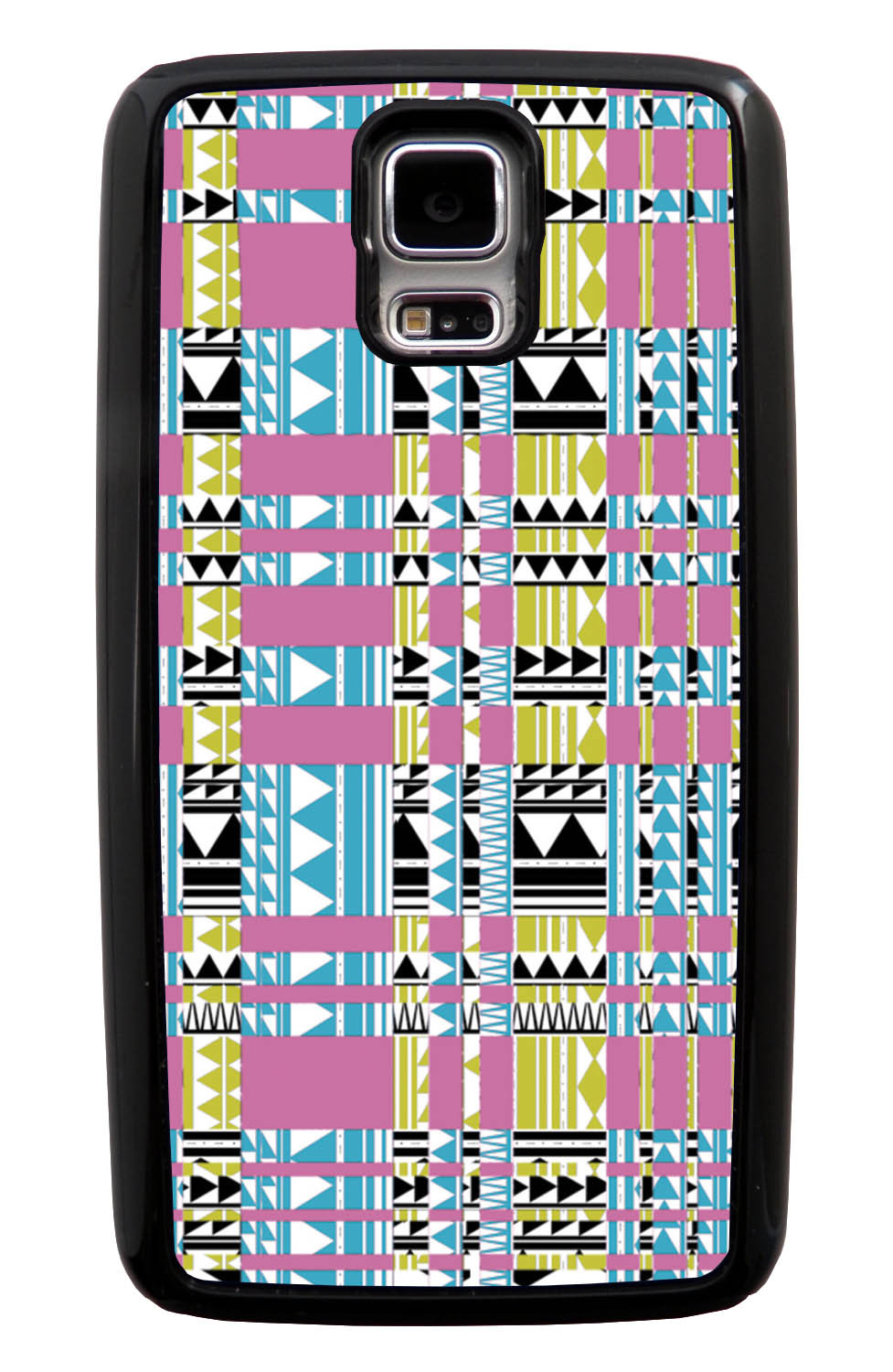 Samsung Galaxy S5 / SV Aztec Case - Glitched Inverse - Geometric - Black Tough Hybrid Case