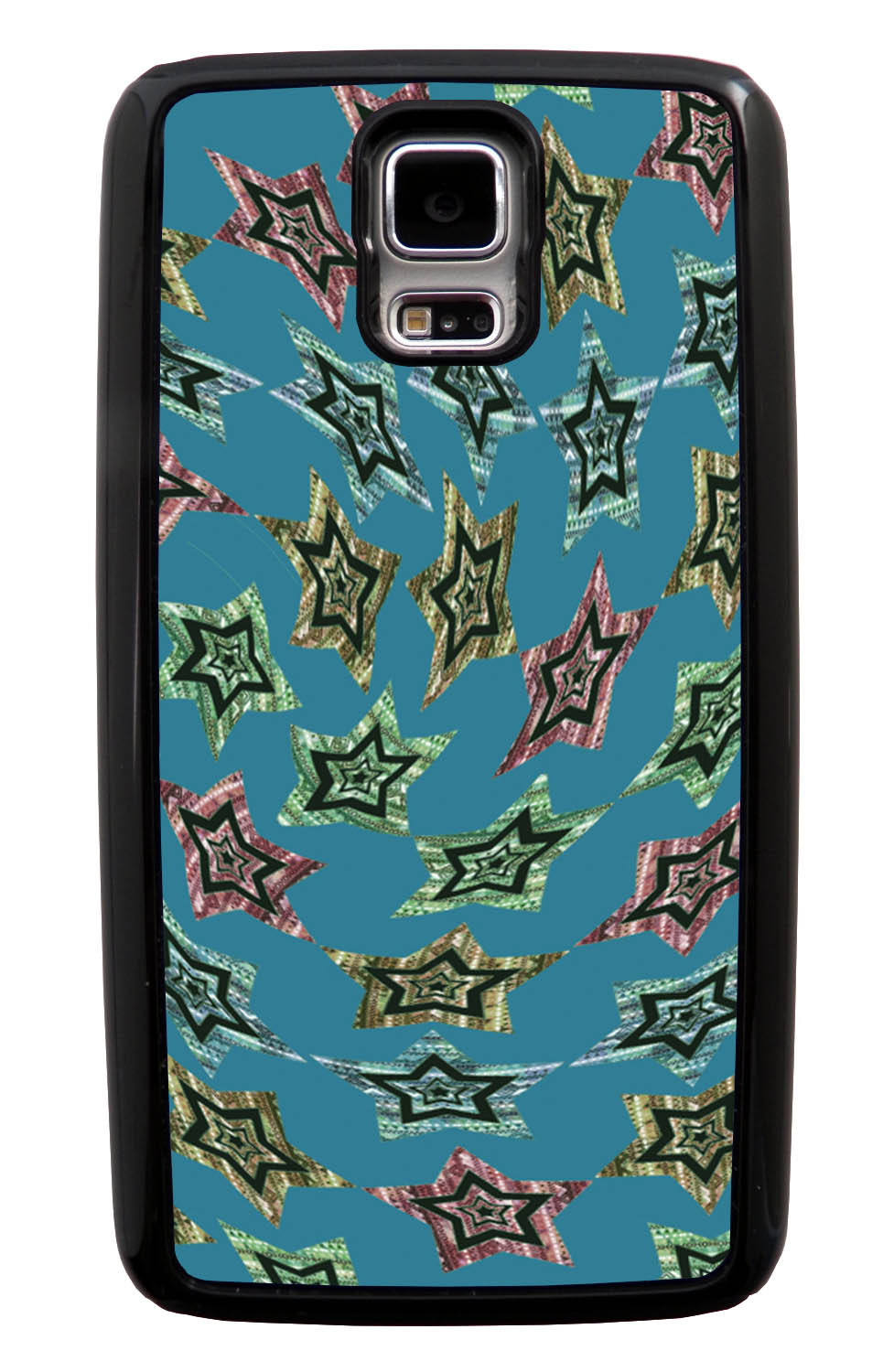 Samsung Galaxy S5 / SV Aztec Case - Whirlwind Stars - Geometric - Black Tough Hybrid Case