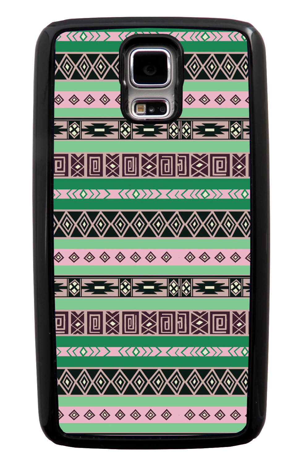 Samsung Galaxy S5 / SV Aztec Case - Spring Colored - Geometric - Black Tough Hybrid Case