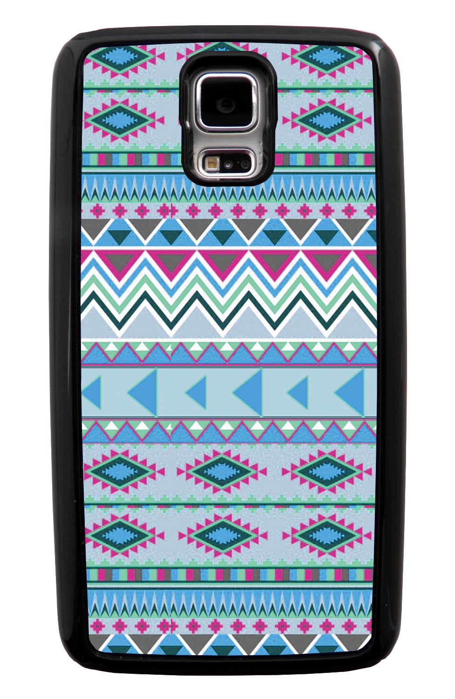 Samsung Galaxy S5 / SV Aztec Case - Winter Colored - Geometric - Black Tough Hybrid Case