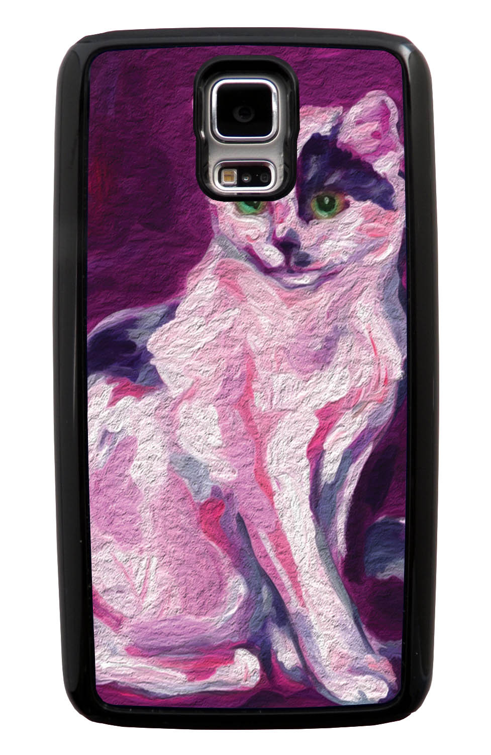Samsung Galaxy S5 / SV Cat Case - Painted Cat Picture