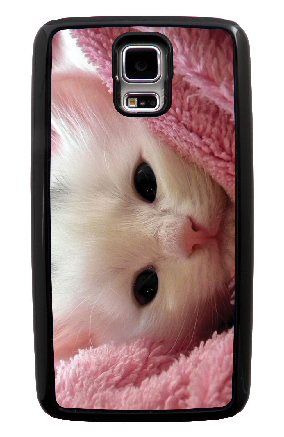 Samsung Galaxy S5 / SV Cat Case - New Born Kitten Photo - Cute Pictures - Black Tough Hybrid Case