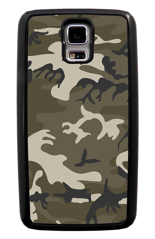 Samsung Galaxy S5 / SV Camo Case - Traditional - Woodland - Black Tough Hybrid Case