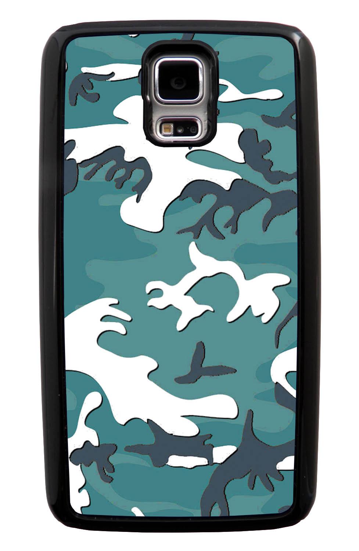Samsung Galaxy S5 / SV Camo Case - Oceanic Colors - Woodland - Black Tough Hybrid Case