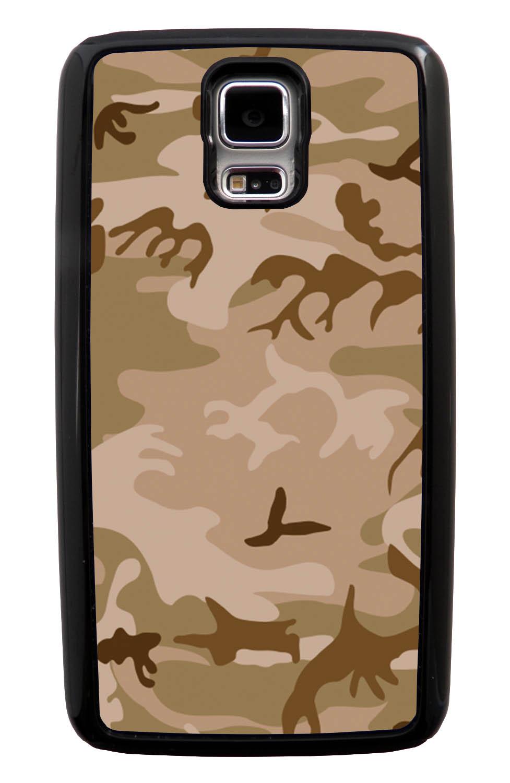 Samsung Galaxy S5 / SV Camo Case - Deserts Colors - Woodland - Black Tough Hybrid Case