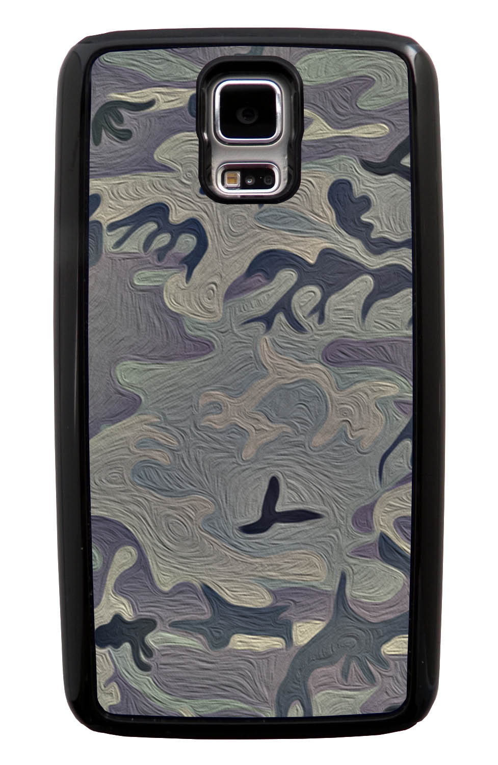 Samsung Galaxy S5 / SV Camo Case - Painted Urban Colors - Woodland - Black Tough Hybrid Case