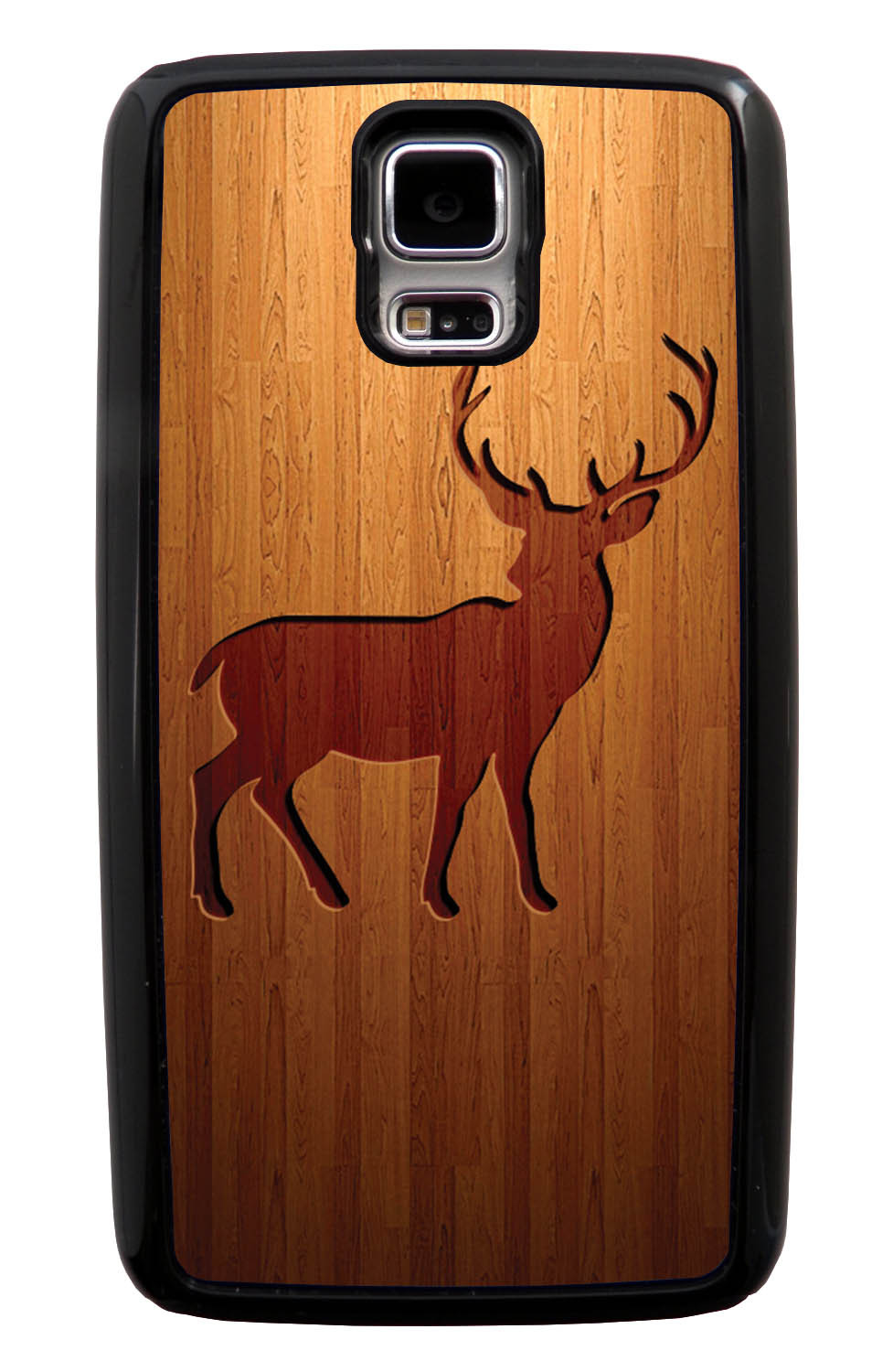 Samsung Galaxy S5 / SV Deer Case - Simulated Wood Engraving