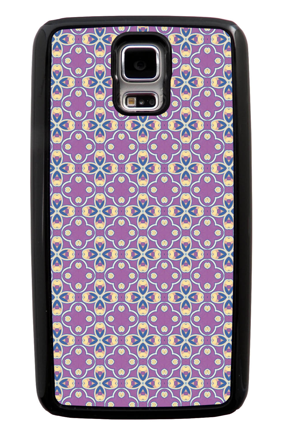 Samsung Galaxy S5 / SV Abstract Case - Purple and Yellow Tip - Flower Petal Like - Black Tough Hybrid Case