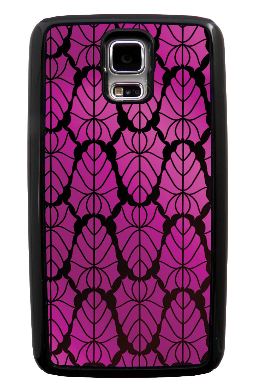 Samsung Galaxy S5 / SV Pink Case - Purple to Pink Leaves - Fall And Winter - Black Tough Hybrid Case