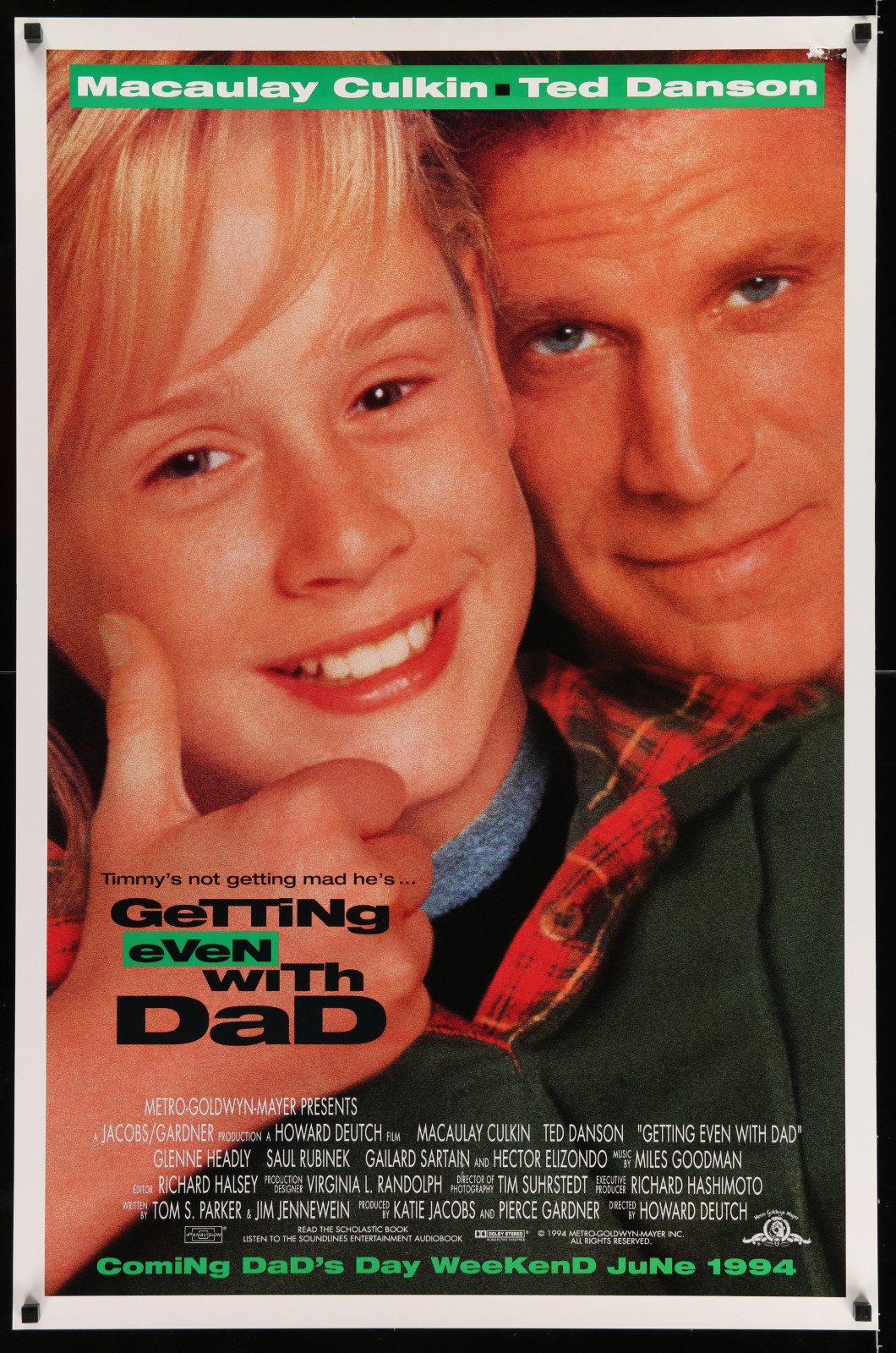Getting Even With Dad 2A422 A Part Of A Lot 19 Unfolded Mostly Double-Sided 27X41 One-Sheets '90S-00S Great Movie Images!
