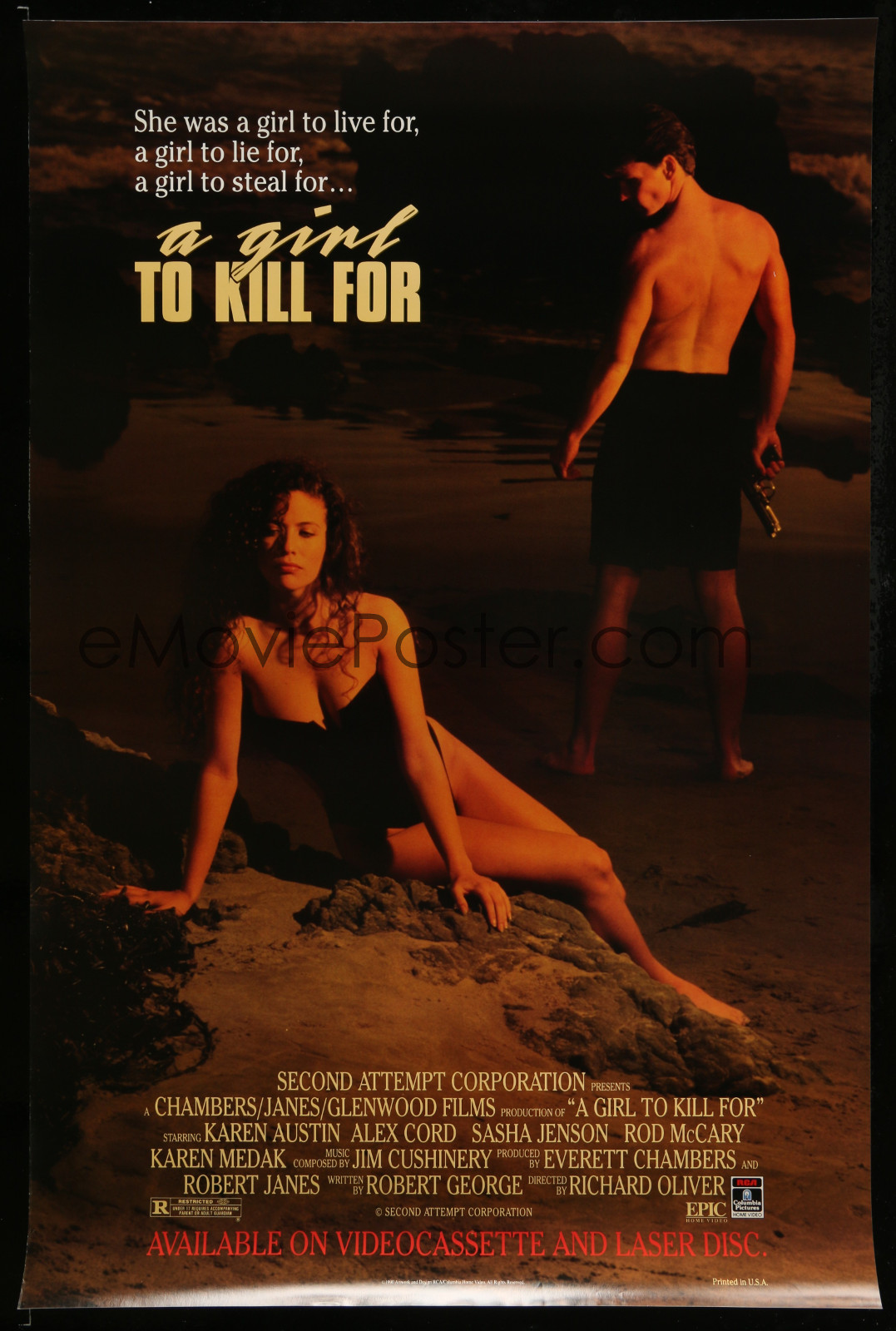 A Girl To Kill For 2A323 A Part Of A Lot 18 Unfolded Single-Sided Video Posters '90S A Variety Of Movie Images!