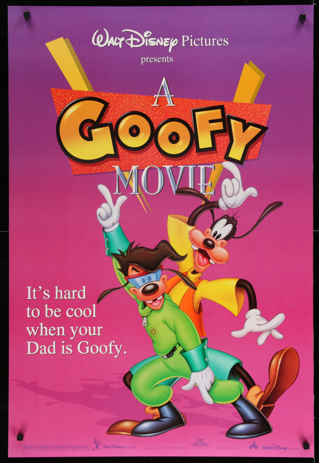 A Goofy Movie (Pink) 2A366 A Part Of A Lot 29 Unfolded Double-Sided 27X40 One-Sheets '90S-00S Great Movie Images!