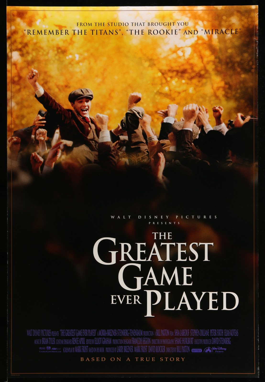 The Greatest Game Ever Played 2A355 A Part Of A Lot 31 Unfolded Mostly Double-Sided 27X40 One-Sheets '90S Cool Movie Images!