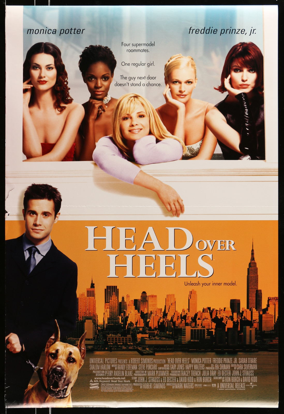 Head Over Heels 2A413 A Part Of A Lot 20 Unfolded Mostly Double-Sided 27X40 One-Sheets '90S-00S Great Movie Images!