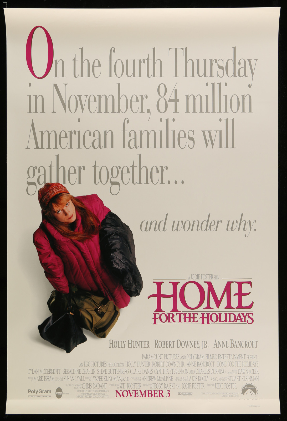 Home For The Holidays 2A355 A Part Of A Lot 31 Unfolded Mostly Double-Sided 27X40 One-Sheets '90S Cool Movie Images!