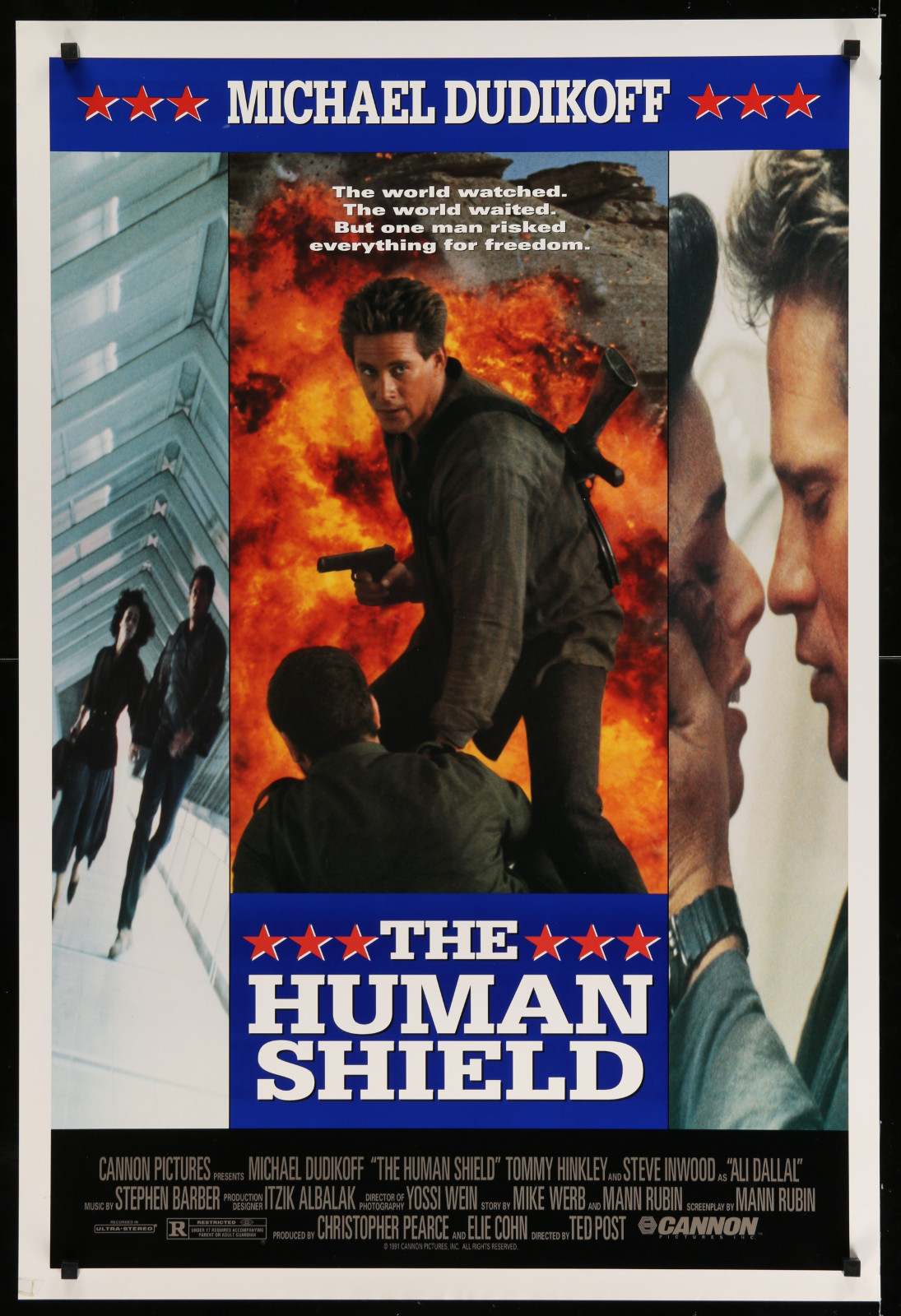 The Human Shield 2A393 A Part Of A Lot 23 Unfolded Mostly Double-Sided 27X40 One-Sheets '90S Great Movie Images!
