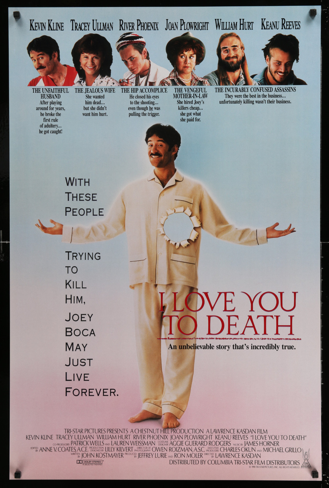 I Love You To Death 2A414 A Part Of A Lot 20 Unfolded Double-Sided And Single-Sided One-Sheets '80S-90S Great Movie Images!