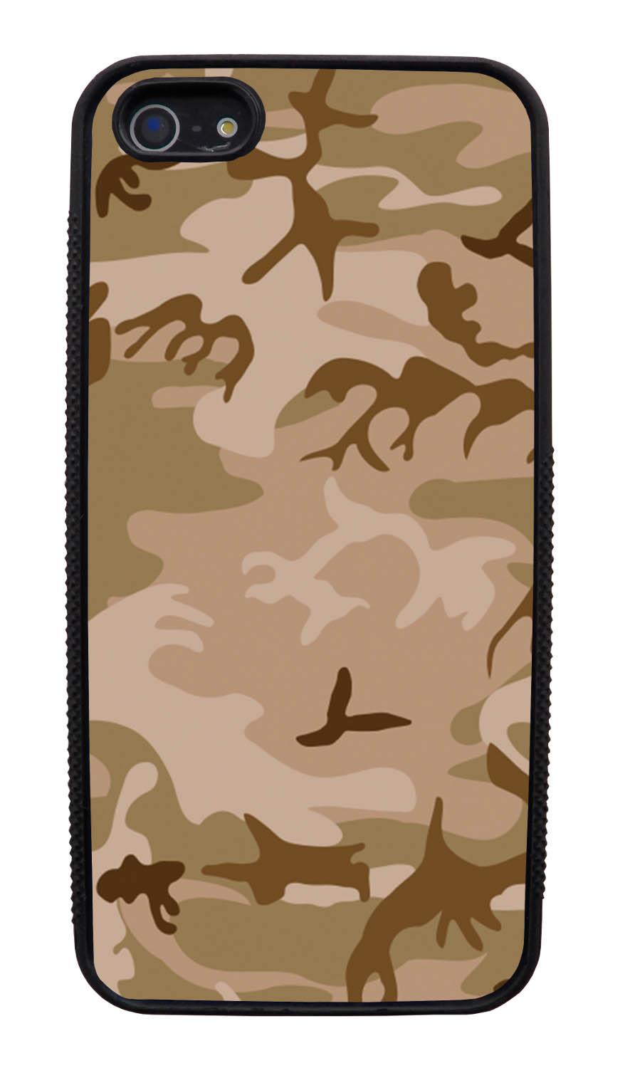 Apple iPhone 5 / 5S Camo Case - Deserts Colors - Woodland - Black Slim Rubber Case