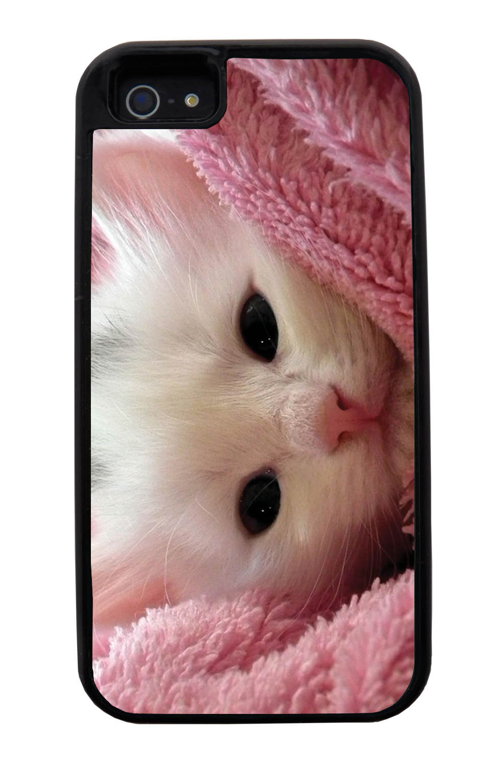 Apple iPhone 5 / 5S Cat Case - New Born Kitten Photo - Cute Pictures - Black Tough Hybrid Case