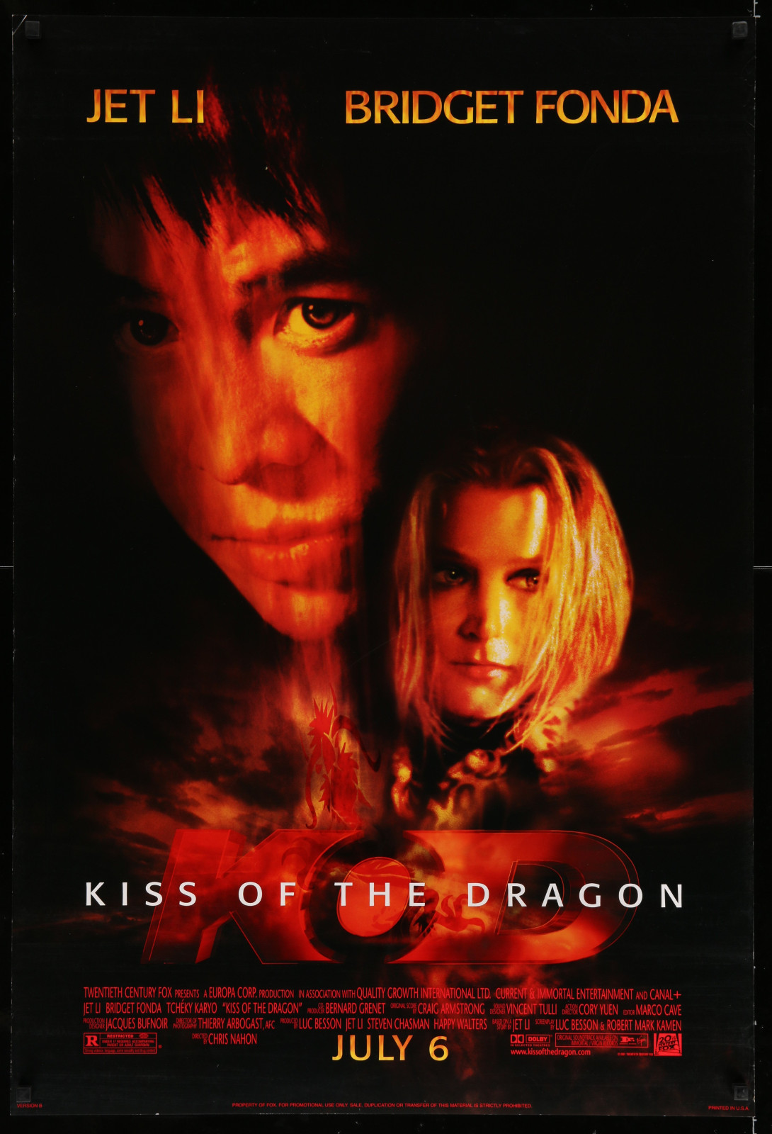 Kiss Of The Dragon 2A446 A Part Of A Lot 17 Unfolded Mostly Double-Sided 27X40 One-Sheets '90S-00S Great Movie Images!
