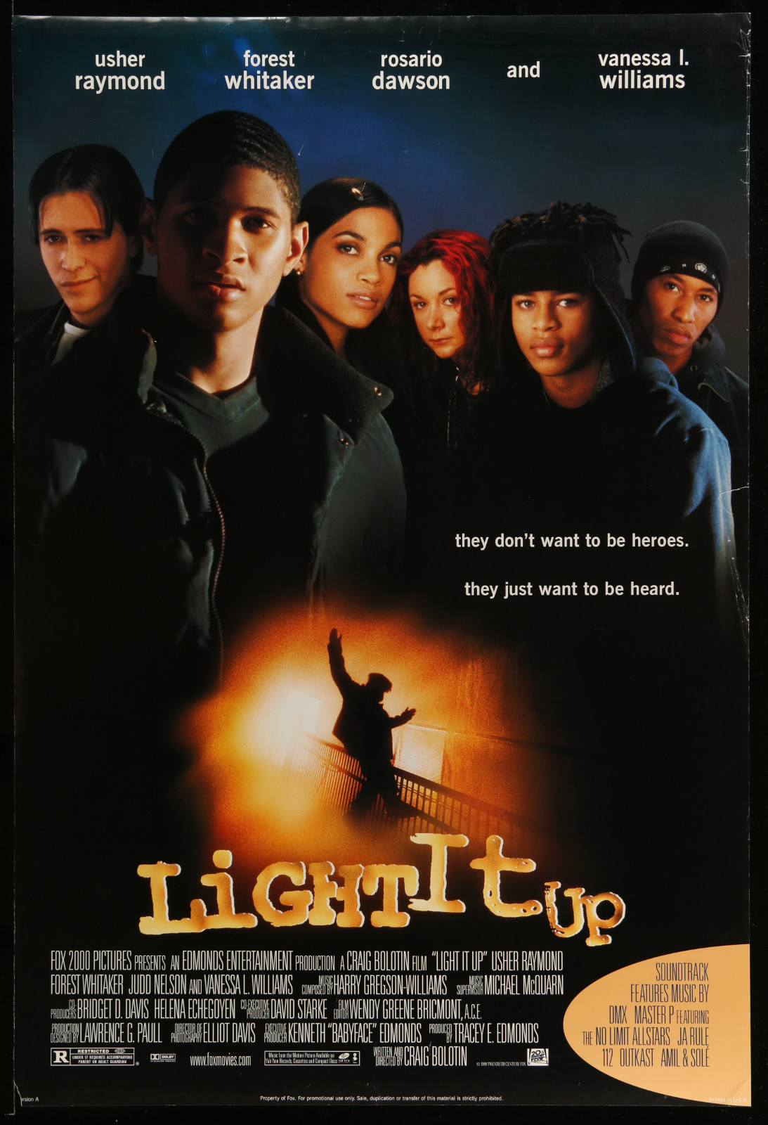 Light It Up 2A355 A Part Of A Lot 31 Unfolded Mostly Double-Sided 27X40 One-Sheets '90S Cool Movie Images!
