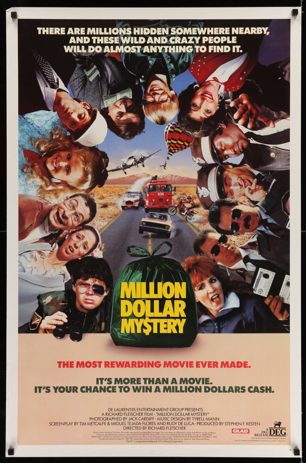 Million Dollar Mystery 2A422 A Part Of A Lot 19 Unfolded Mostly Double-Sided 27X41 One-Sheets '90S-00S Great Movie Images!