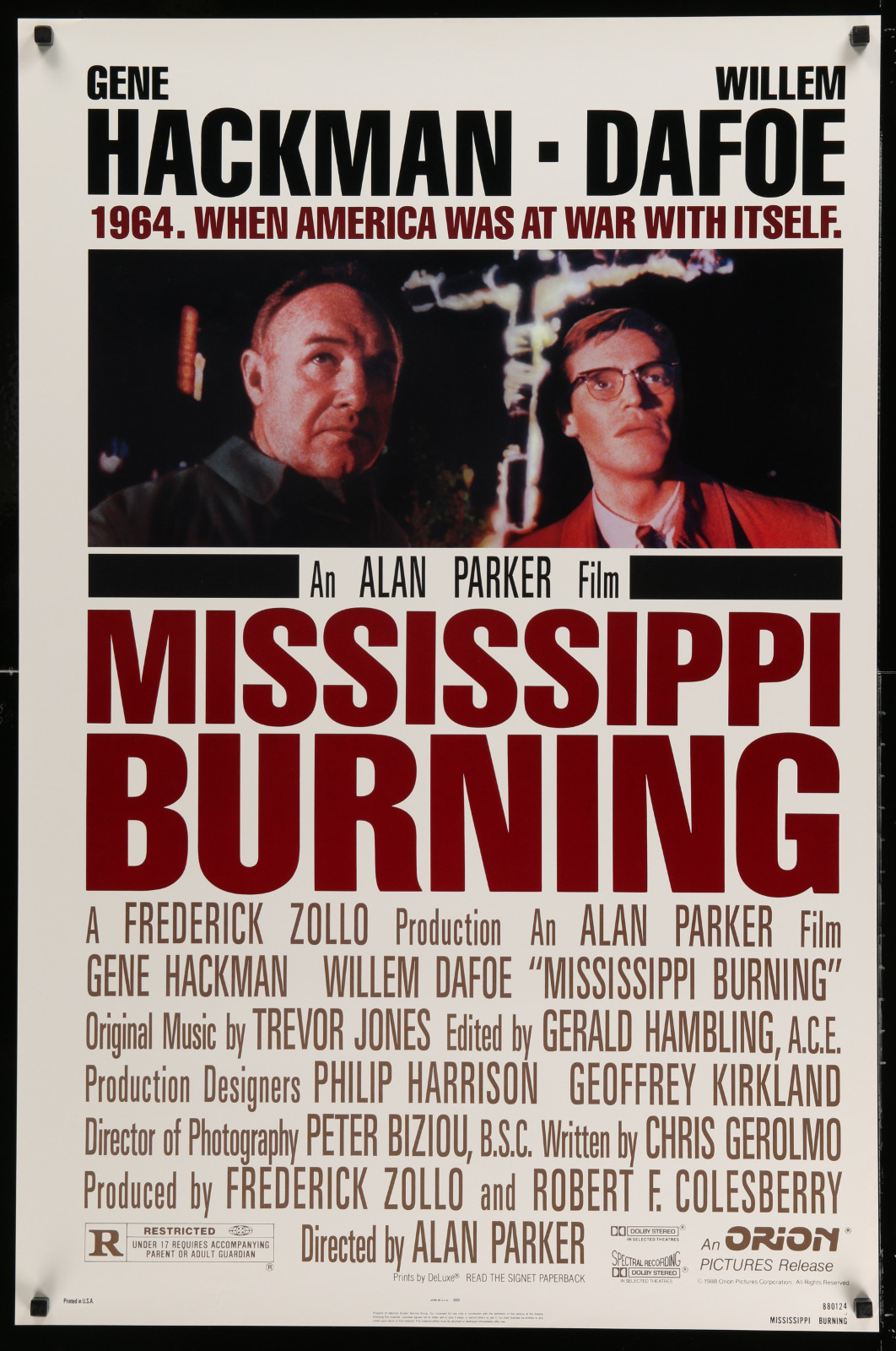 Mississippi Burning 2A414 A Part Of A Lot 20 Unfolded Double-Sided And Single-Sided One-Sheets '80S-90S Great Movie Images!