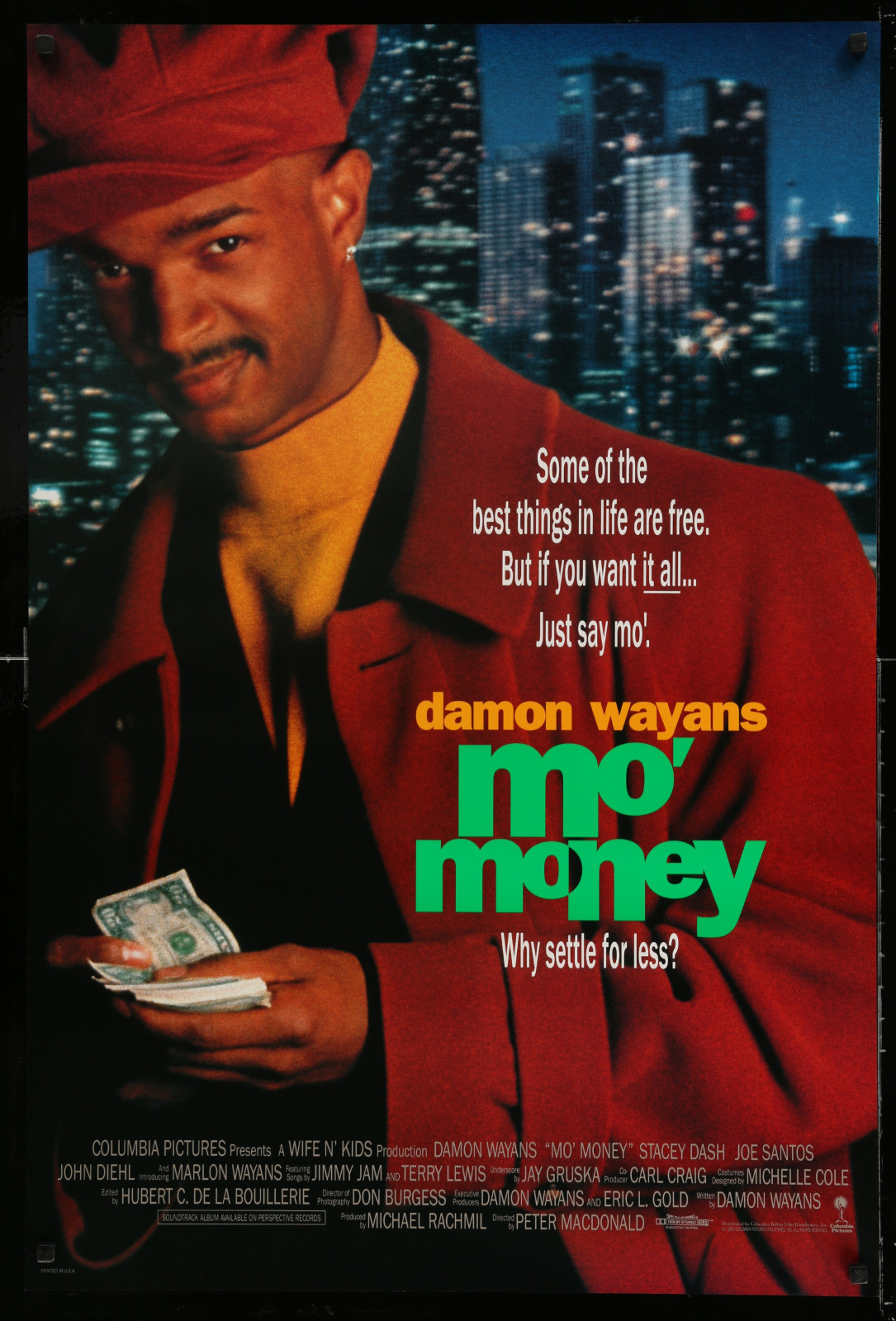 Mo' Money 2A414 A Part Of A Lot 20 Unfolded Double-Sided And Single-Sided One-Sheets '80S-90S Great Movie Images!