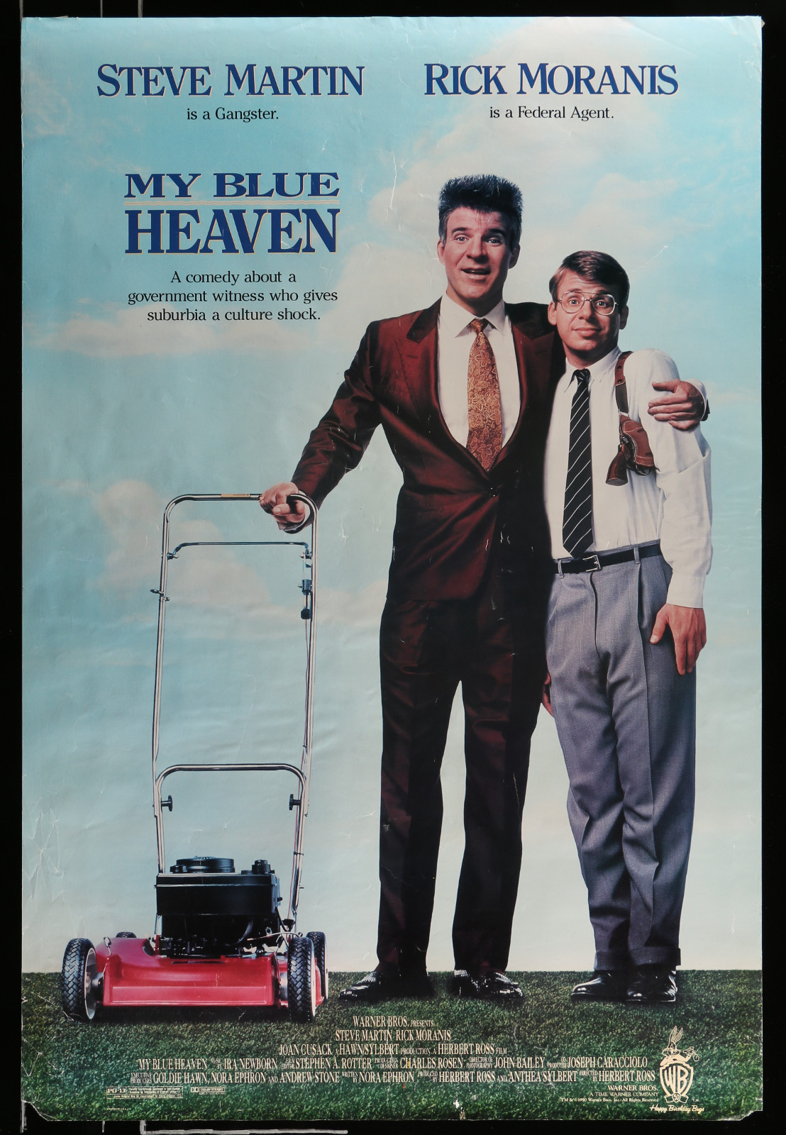 My Blue Heaven 2A364 A Part Of A Lot 29 Unfolded Mostly Single-Sided 27X40 One-Sheets '90S-00S Great Movie Images!